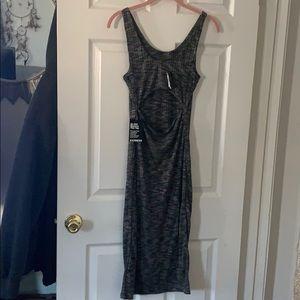 Express Dresses - Grey and black cutout dress